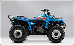 the terrapro has a unique place in atv history as the first and only atv  with power take off (pto) capabilities  this feature enabled the use of a  wide