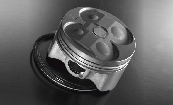 Yamaha Technology 1996: Forged Aluminum Pistons - Controlled Forging Technology